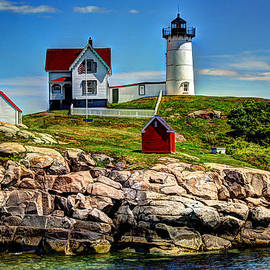 Tranquil Nubble Light by Laura Duhaime