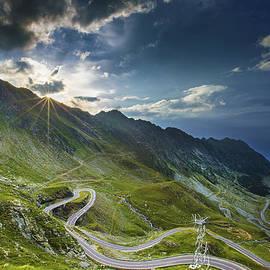 Transfagarasan road sunset by Mircea Costina Photography