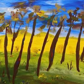 Mary Carol Williams - Trees Against Cobalt Blue Sky