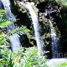 Trio of Waterfalls on Road to Hana Hawaii by DejaVu Designs