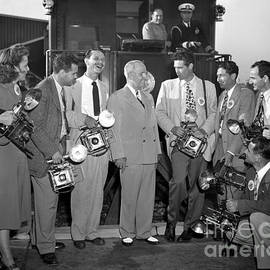 Truman and Photographers 1960 by Martin Konopacki Restoration