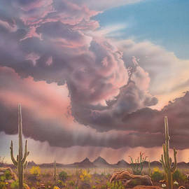 Jerry Bokowski - Tucson Mountain Sunset