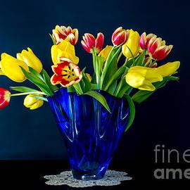 Tulips in Blue by Torbjorn Swenelius