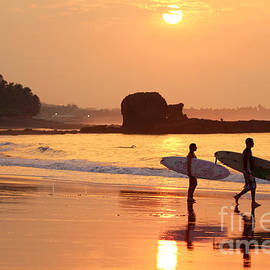 Tunco Sunrise Surfers by Stav Stavit Zagron
