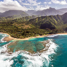 Tunnels Beach Kauai by Pierre Leclerc Photography
