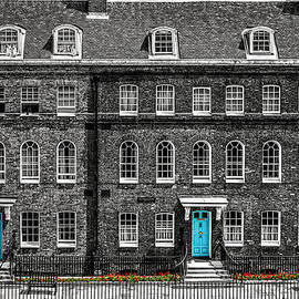 Turquoise Doors At Tower Of London's Old Hospital Block by James Udall