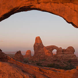 Gregory Ballos - Turret Arch and North Window - Arches National Park - Utah