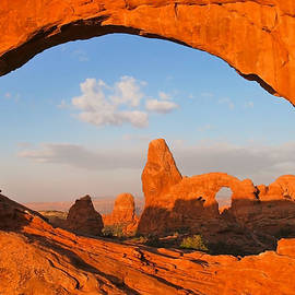 Gregory Ballos - Turret Arch through the North Window - Arches National Park - Utah