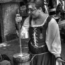Tutor Milkmaid Churning Butter  v3 by John Straton
