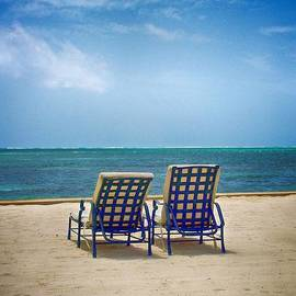 Two Beach Lounge Chairs by Kristina Deane