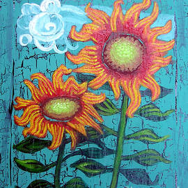 Genevieve Esson - Two Orange Sunflowers