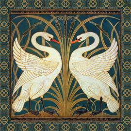 Two Swans by Walter Crane