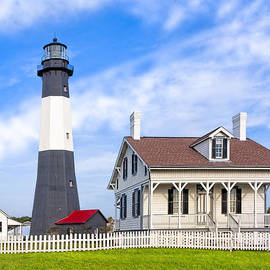 Tybee Island Lighthouse At Dawn by Mark E Tisdale