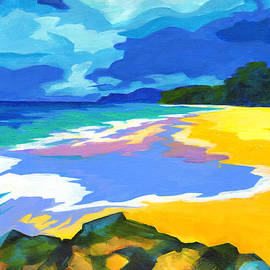 Tanya Filichkin - Landscape In Blue Yellow And Green