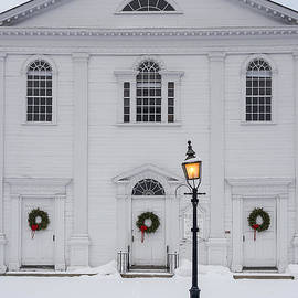David Stone - Unitarian Universalist Church and lamppost