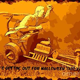 Universal Mosters Mummys Chariot Card by John Malone