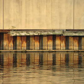 Urban Abstract River Reflections by Anita Burgermeister