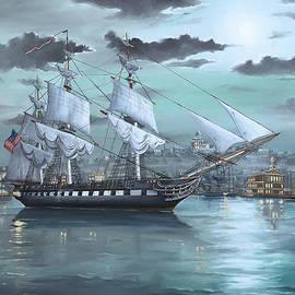 Scott Hoarty - USS Constitution in Boston Harbor 1812