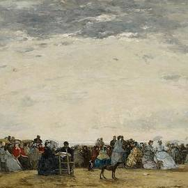 Eugene Louis Boudin - Vacationers on the Beach at Trouville