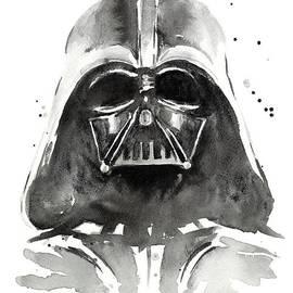 Darth Vader Watercolor by Olga Shvartsur