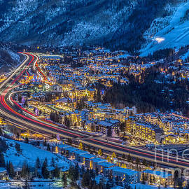 Vails Night Traffic by Franz Zarda