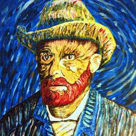 Van Gogh Portrait/ inspired by Van Gogh by Irving Starr