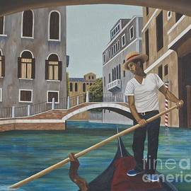 Venetian Gondolier by AnnaJo Vahle