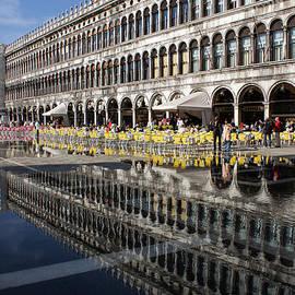 Venice Italy - St Mark's Square Symmetry by Georgia Mizuleva
