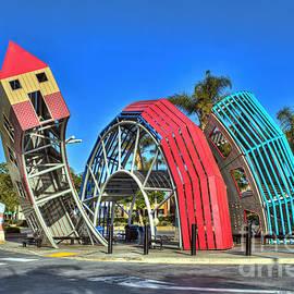 Bus Stop Public Art Sculpture by David Zanzinger
