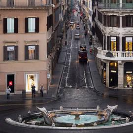 Georgia Mizuleva - Via Condotti Waking Up - Rome Italy