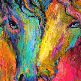 Svetlana Novikova - Vibrant Impressionistic Horses painting