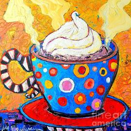 Ana Maria Edulescu - Viennese Cappuccino Whimsical Colorful Coffee Cup