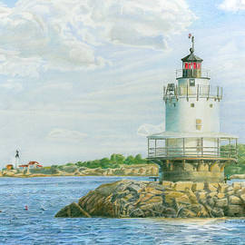 View From Casco Bay Ferry by Dominic White