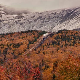 View Of Autumn Foliage From The Mount Washington Cog Railway Train by Jeff Folger