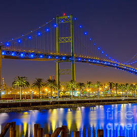 Vincent Thomas Bridge - Nightside by Jim Carrell