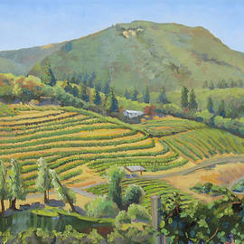 Vineyards In The Mountains by Dominique Amendola