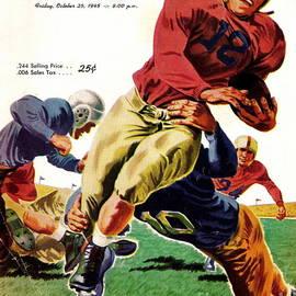 Vintage American Football Poster by R Muirhead Art
