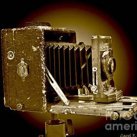 Vintage Camera Sepia Wall Art by Carol F Austin