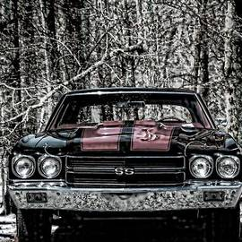 Vintage Car Art Chevy Chevelle SS Selective by Lesa Fine