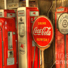 Bob Christopher - Vintage Gasoline Pumps With Coca Cola Sign