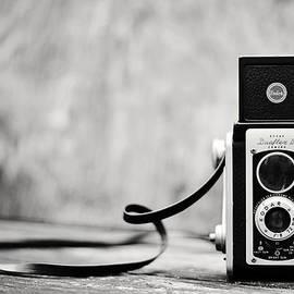 Vintage Kodak Duaflex II Camera Black and White by Terry DeLuco
