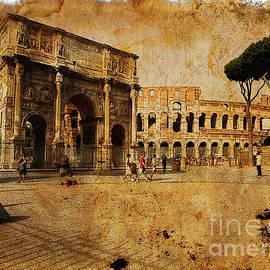 Vintage photo of Coliseum by Stefano Senise