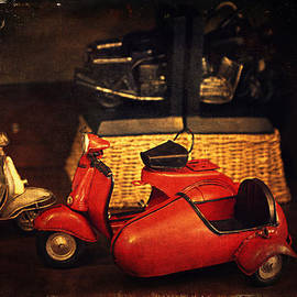 Maria Angelica Maira - Vintage Toys - Red Motorcycle