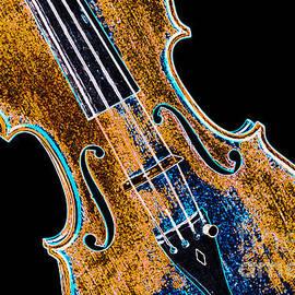 Viola Violin Drawing Strings Bridge In Color 3263.03 by M K Miller