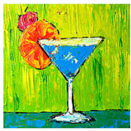 Vodka Martini Collection Bar Decor - Modern Art by Patricia Awapara