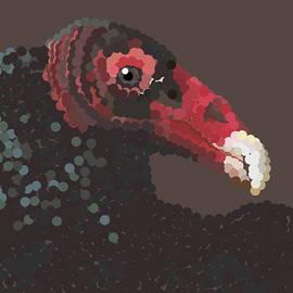 Vulture Pixel Pointillized