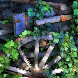 Dan Sproul - Wagon Wheel And Ivy Abstract