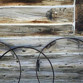 Wagon Wheel Rims Near Parson's Memorial In Yosemite by Bruce Gourley