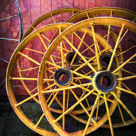 Wagon Wheels by Debra and Dave Vanderlaan