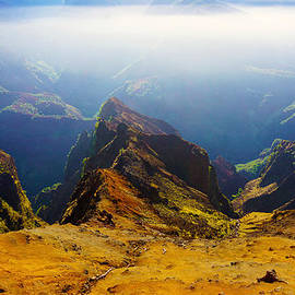 Waimea Canyon Misty  by Kevin Smith
